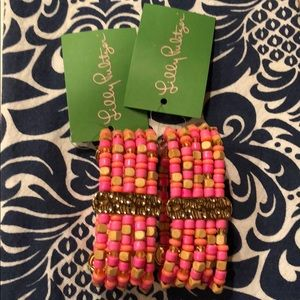 NWT Lilly Pulitzer Beaded Bracelet Set
